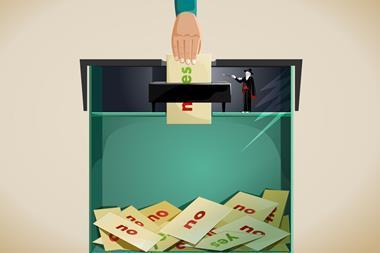 Vote rigging concept illustration