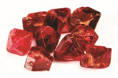 Raw and uncut Spinel gemstones