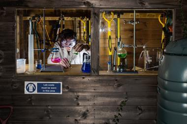 Chemistry in a garden shed