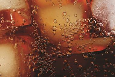 Close-up of soft drink