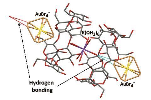 Gold-cyclodextrin complex